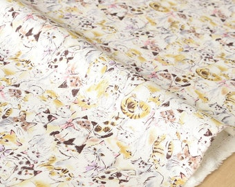 Japanese Fabric pretty cats - 50cm