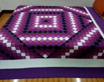 King Size Machine Pieced And Quilted  Quilt/Twin  and Queen available
