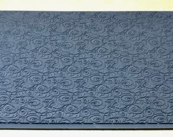 PLUME Embossed Rubber Texture Tile Mat Stamp for Clay inks Ceramics Paint Soap  MGT526