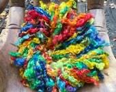 Handspun Art Yarn, Chasing Rainbows, Iceland Collection; JazzTurtle Handspun Artisan Yarn