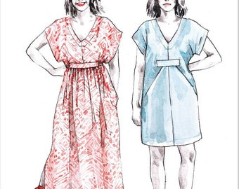 Closet Case Files PATTERN - Charlie Caftan - Sizes 0-20