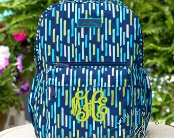New Vera Bradley Backpack, Katalina Showers Lighten up Grande backpack, Monogrammed bookbag, personalized backpack, Laptop backpack