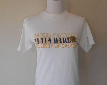 Closing Shop 40%off SALE Vintage Santa Barbara University of California       tee t shirt t shirts     clothing clothes