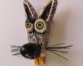 Ceramic Rat Head pin