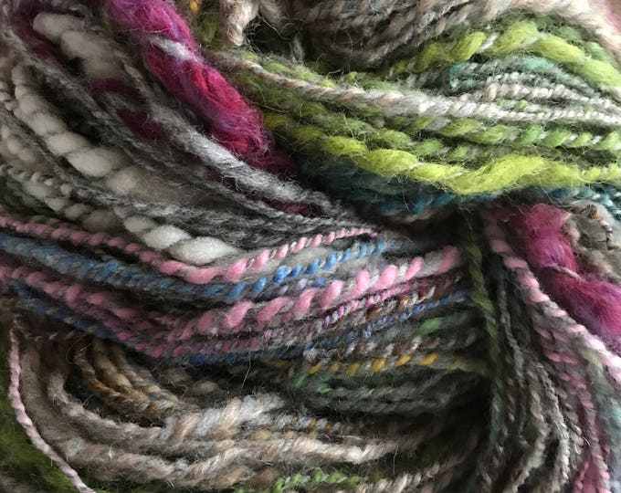 One Way or the Other - 180 yards light bulky weight handspun two ply wool yarn, self striping, multicolored