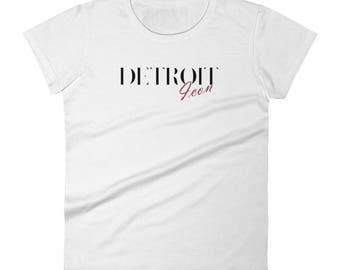 Detroit Icon~Women's short sleeve t-shirt by SEEDS Studio