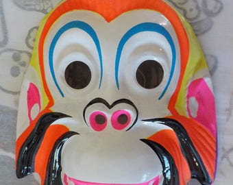 Vintage Halloween Collectible / Orangutan Mask / Child Size / M. SHIMMEL SONS INC.