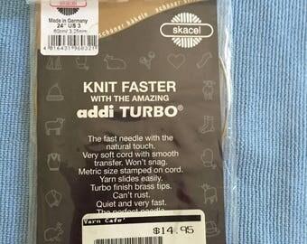 "US size 3, 24"" Addi Turbo circular knitting needle"