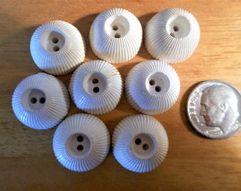 1960's Fun Vintage White Buttons 8