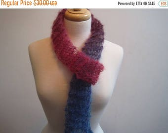 "EARLY FALL SALE rainbow scarf, mohair scarf, knitted scarf, lacy scarf, lightweight scarf, handmade scarf, feminine scarf, gift scarf ""spect"