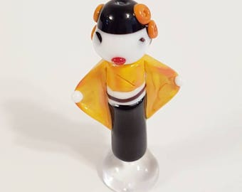 Akemi - Japanese Geisha Style Glass Lampwork Beads