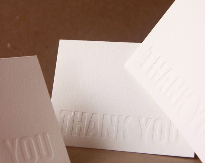 Reserved Listing : Custom Impression (no ink) Letterpress Notes, small folded cards w envelope color choice