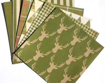 50% OFF - Green - 6x6 Recollections Sleigh Bells Ring Scrapbooking Paper Pack