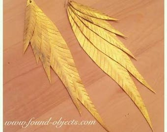 "Shake your tail feather"" earrings - Available in Gold, Silver & Copper."