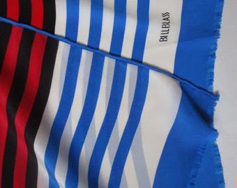 Bill Blass Bold Striped Authentic Vintage 1980s  Scarf Unisex Mens