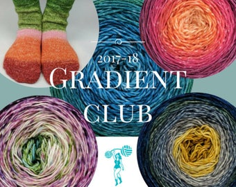 Knitcircus Gradient Yarn Club for 2017-18