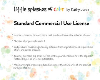 Standard Commercial Use License for Digital Clip Art ONLY - Kathy Jurek