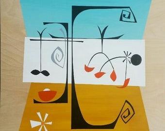 Calder Two - original painting shipped free!