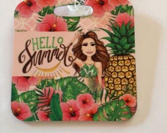 Bag Tag -Hello Summer