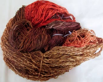 Handpainted Soft Rayon Chenille Yarn  MOCCASIN  -  400 yds