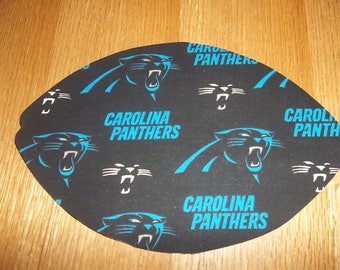 Mouse Pad, NFL, Carolina Panthers, Mouse Pads, Mousepad, Desk Accessories, Mouse Mat, Office Decor, Football Shape, Computer Mouse Pad, Gift