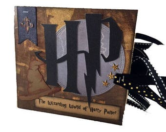 Harry Potter Scrapbook - Mini Harry Potter Scrabook - Harry Potter Paper Bag Album