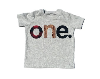 o n e //First Birthday//Lumberjack Theme Birthday//Fabric Iron On Applique Letters//Number two Also Available