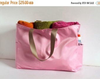 ON SALE Special summer SALE Beach Bag, large pink tote bag