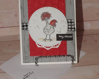 Stampin Up- Hey Chick Handcrafted Greeting Card Kit-Set of 4