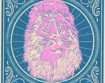 Official Kings of Leon Screen Printed Poster Charlottle, NC 2017