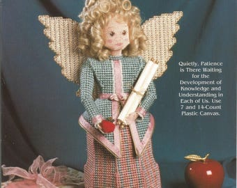 Heavenly Messengers, Patience, Plastic Canvas, Needlecraft Shop, Angel Pattern, Sewing Pattern, Supplies, Sewing Tips, Home Decor, 1994