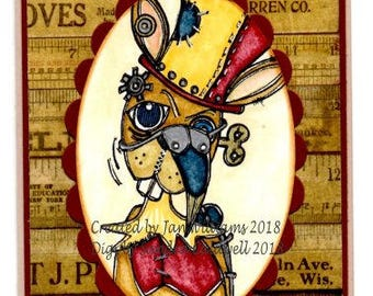 2053 Steampunk Sir Rabbit Digi Stamp