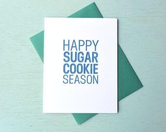 Letterpress Holiday Card - Happy Sugar Cookie Season - HPS-146