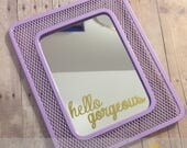 "Decorative Locker Mirrors ""Hello Gorgeous"""