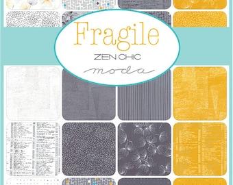"Moda FRAGILE Layer Cake 10"" Precut Fabric Quilting Cotton Squares Zen Chic 1630LC"