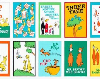 """Robert Kaufman Dr. Seuss Hop on Pop Bright ADE-17013-195 Fabric Quilt Panel 23"""""""