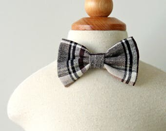 Plaid Bow Tie, Holiday Bow Tie, Thanksgiving Bow Tie, Cotton Bow Tie, Boys Bow Tie, Bow Tie for Baby, Toddler Bow Tie, Ring Bearer Bow Tie