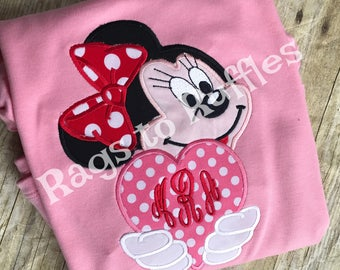 Minnie Mouse Inspired Valentine Shirt- Valentine's Day Shirt - Personalized Valentine Shirt