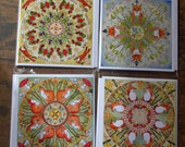 4 blank greetings cards with envelopes Fox Set