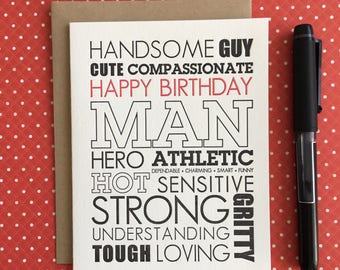 Birthday Favorite Guy Letterpress Card