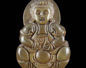 75% OFF CLEARANCE SALE Beautiful Jade Female Kwan Yin Buddha Pendant