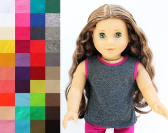 Fits like American Girl Doll Clothes - Pop of Color Tank Top, You Choose Colors
