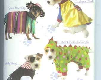 Simplicity  DOG  CLOTHES  in All sizes Sewing Pattern 3667 Woffy Wear By Wendy