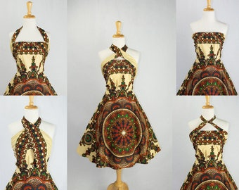 Vintage Hawaiian Convertible Sun Dress WOW! Wear 5+ Ways!