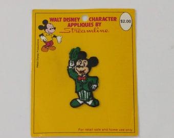 Walt Disney Mickey Mouse Applique by Streamline, Disneyana, Disney Sewing Patch, Mickey Mouse Applique, Disneyland Ephemera