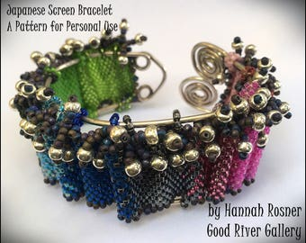 JUST UPDATED - Beading Tutorial Beginning Peyote Stitch Bracelet - Japanese Screen Seed Bead Bracelet pattern instruction by Hannah Rosner