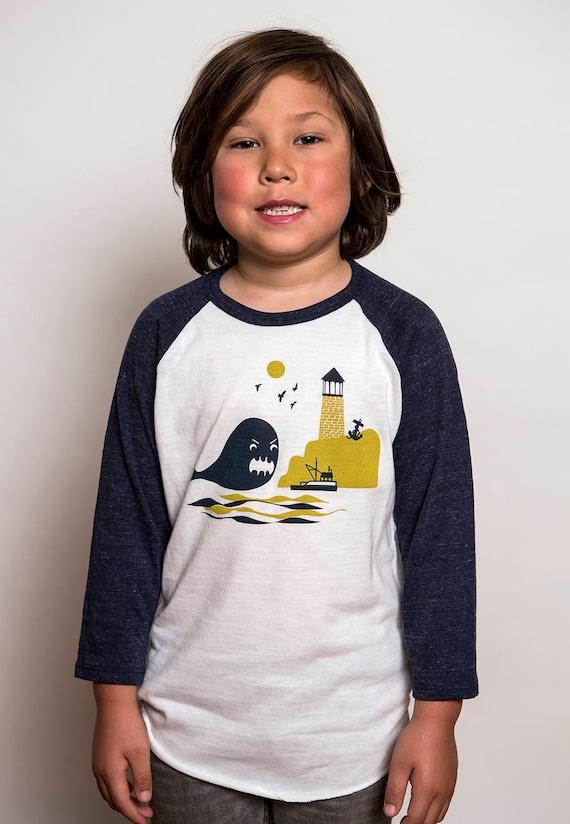Kids Whale Baseball Jersey