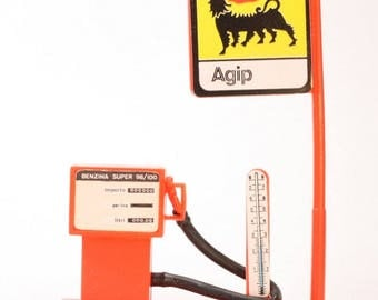Gas Pump - Italian Agip Brand - Dollhouse, Gnomes dollhouse gas pump diorama gas pump craft gas pump project gas station  - 201-0341