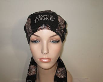 Game of Thrones  Chemo Scarf, Hat, Cancer Hat,  Alopecia, Head Cover