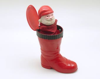 Vintage Christmas Decoration Santa in Boot Knickerbocker Pop Up